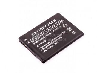 Bateria, Corby II, GT-S5220, para telefonos Samsung, Li-ion, 3,7V, 900mAh, 3,3Wh
