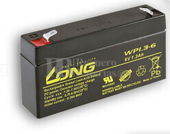 Bateria LONG AGM de 6 Voltios 1,3 Amperios WP1.3-6 97x25x52mm