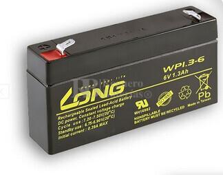 Bateria LONG AGM de 6 Voltios 1,3 Amperios WP1.3-6 97x25x52mm