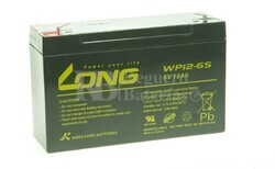 Bateria LONG AGM de 6 Voltios 12 Amperios WP12-6S 151x50x94 mm