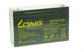 Bateria LONG AGM de 6 Voltios 12 Amperios WP12-6S 151x50x94 mm