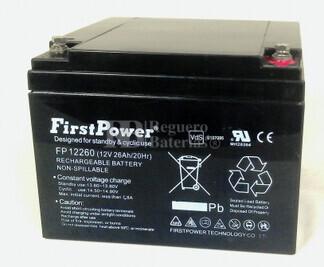 Bateria de AGM 12 Voltios 26 Amperios Firstpower FP12260 (165x176x125)