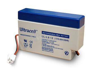 Batería de Agm Ultracell 12 Voltios 0.8 Amperios 96mm x 25mm x 62mm
