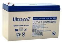 Batería de Agm Ultracell 12 Voltios 7 Amperios  151mm x 65mm x 94mm