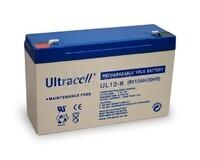 Batería de Agm Ultracell 6 Voltios 12 Amperios  151mm x 51mm x 94mm