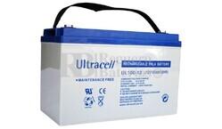 Batería de Agm Ultracell UL100-12 12 Voltios 100 Amperios 330mm x 173mm x 212mm
