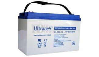 Bater�a de Agm Ultracell UL100-12 12 Voltios 100 Amperios 330mm x 173mm x 212mm