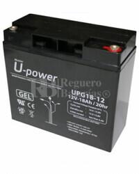 Batería Gel 12 Voltios 18 Amperios U-power UPG18-12