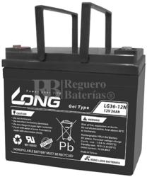Batería de Gel 12 Voltios 36 Amperios Long LG36-12N