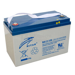 Bater�a de Gel Deep Cycle Ritar 12 Voltios 100 Amperios ( 328 x 172 x 222 mm )