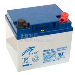 Batería de Gel para Silla de Ruedas Electrica en 12 Voltios 40 Amperios RITAR DG12-40