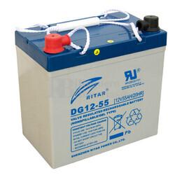 Batería de Gel para Silla de Ruedas Electrica en 12 Voltios 55 Amperios RITAR DG12-55