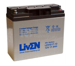 Bateria de Gel Puro 12 Voltios 17 Amperios LEVG17-12 (181,5x77x167,5)
