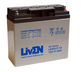 Batería de Gel 12 Voltios 17 Amperios LIVEN LEVG17-12