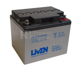 Bateria de Gel Puro 12 Voltios 40 Amperios LEVG40-12 (197x165x170)