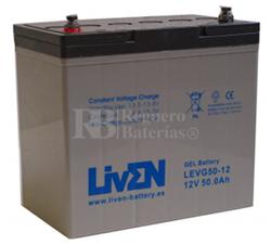 Batería Gel 12 Voltios 50 Amperios Liven LEVG50-12