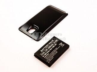 Batería B800BU de larga duración para Samsung Galaxy Note 3 con tapa color negro