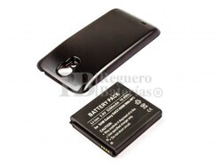 Bateria de larga duracion para Samsung Galaxy S4 con NFC color negro con carcasa trasera