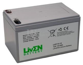 Batería de Litio 12 Voltios 15 Amperios LVIF15-12