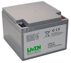 Batería de Litio 12 Voltios 25 Amperios LiFePO4 LVIF25-12
