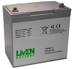 Batería de Litio 12 Voltios 60 Amperios