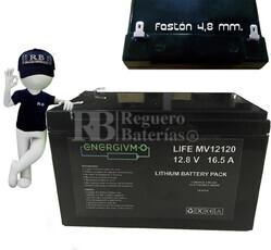 Batería para Bici Eléctrica Litio Ferroso 12 Voltios 16.5 Amperios 150x95x100mm