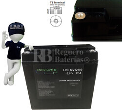Batería Litio Ferroso LiFePO4 12 Voltios 22 Amperios