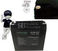Batería de Litio Ferroso LifePO4 para Carritos de Golf en 12 Voltios 22 Amperios