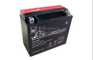 Batería de Moto 12 Voltios 18 amperios EBX20H-BS, YTX20-BS