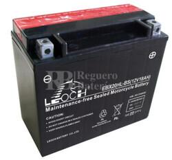 Batería de Moto 12 Voltios 18 amperios EBX20HL-BS , YTX20L-BS