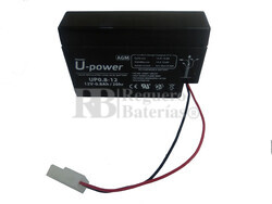 Batería 12 Voltios 800 mah U-Power UP08-12