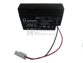 Batería 12 Voltios 800 mah U-Power UP08-12