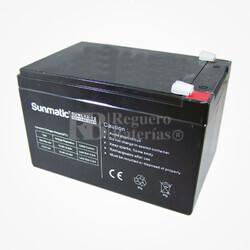 Batería de Plomo 12 Voltios 12 Amperios SUNMATIC SUNL12-12