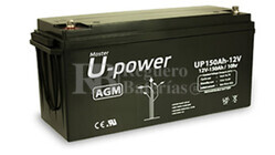 Batería 12 Voltios 150 Amperios U-Power UP150-12