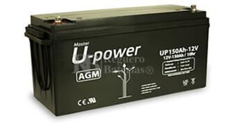 Batería 12 Voltios 150 Amperios U-Power UP150-12