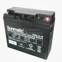 Batería 12 Voltios 18 Amperios Sunmatic SUNL12-18