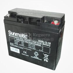 Batería de Plomo 12 Voltios 18 Amperios SUNMATIC SUNL12-18