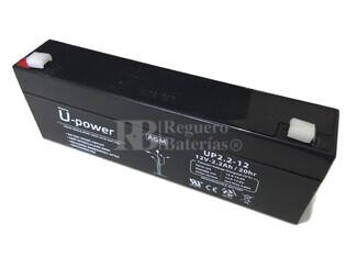 Batería 12 Voltios 2,2 Amperios Upower UP2.2-12