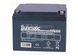 Batería de Plomo 12 Voltios 26 Amperios SUNMATIC SUNL12-26