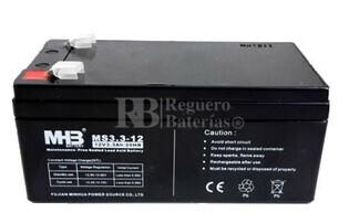 Bateria de Plomo MHB 12 Voltios 3,3 Amperios MS3.3-12 135x67x60mm