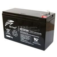 Batería de Plomo 12 Voltios 7 Amperios  (Alta Descarga) RITAR RT1270H