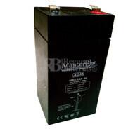 Batería de Plomo 4 Voltios 4,5 Amperios U-POWER MB4.5-4
