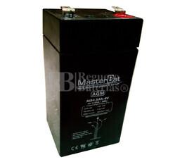 Batería 4 Voltios 4,5 Amperios U-power MB4.5-4