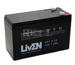 Bateria de plomo AGM 12 Voltios 7,2 Amperios Liven Battery LV7.2-12