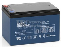 Bateria de Plomo Crystal 12 Voltios 14 Amperios BETTA BATTERY 6-CNFJ-14 151x99x98