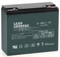 Bateria de Plomo Crystal 12 Voltios 18 Amperios BETTA BATTERY 6-CNFJ-18 181x76x170