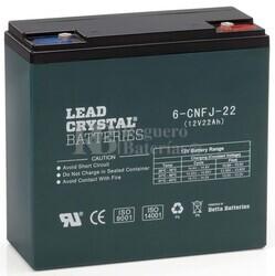 Bateria de Plomo Crystal 12 Voltios 22 Amperios BETTA BATTERY 6-CNFJ-22 181x76x170