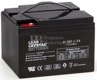 Bateria de Plomo Crystal 12 Voltios 24 Amperios BETTA BATTERY 6-CNFJ-24 176x166x125