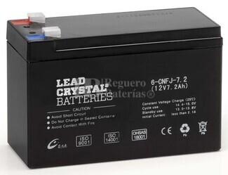 Bateria de Plomo Crystal BETTA BATTERY 12 Voltios 7,2 Amperios 151x65x94