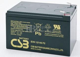 Bateria de Plomo EVH12140 CSB 12 Voltios 14 Amperios